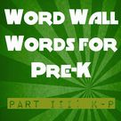 Preschool Word Walls