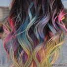 15 Cool Rainbow Hair Color Ideas For Festival Goers