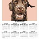Custom dog lover gift | custom pet portrait calendar | Printable pet gift | personalised gift | christmas gift | digital illustration