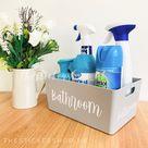 MEDIUM GREY STORAGE Box Personalised Home Organisation Caddy Tub Cleaning Organiser Mrs Hinch Inspired Hinching Storage Laundry Basket