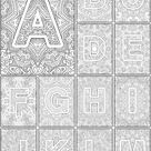 Color the Alphabet A-Z Adult coloring book - Sarah Renae Clark - Coloring Book Artist and Designer