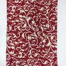 devine scarlet red printed cloth placemats