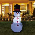 5FT Inflatable Snowman - Christmas Decorations Winter Ornaments  Outdoor Decoration  Christmas Clearance Yard Decoration Christmas Porch