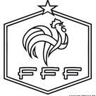 Coloriage des logos des equipes de football du mondial 2018 en russie,logo équipe de France de football a imprimer,the logo of the 2018 World Team coloring