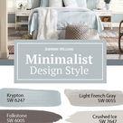 Minimalist Style Paint Colors