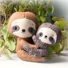 Sloth: mom and baby  PDF Pattern   Etsy