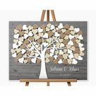 Hochzeitsgeschenk Gästebuch, Hochzeitsbaum Wedding tree