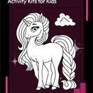 Unicorn Activity Kit, Coloring Pages, Kids Worksheets