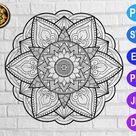 Zentangle Mandala 11 svg eps png jpg pdf dxf Files   Etsy