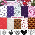 Heart Vector Ornaments and Patterns