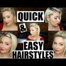 5 QUICK & EASY HAIRSTYLES FOR SHORT HAIR