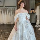 Princess wedding dress KEIRIS with off the shoulder sleeves   Etsy