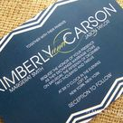 Chevron Wedding Invitations