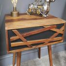Solid Wood   Side Table   Bedside Table   The Retro Urban Collection