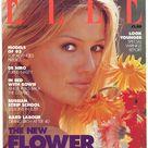 Elle UK Feb 1993  British Original Vintage Fashion Magazine Gift Birthday Present Karen Mulder  cover