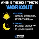 Do you prefer morning workouts or evening workouts?