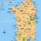 Carte de la Sardaigne   Voyages   Cartes