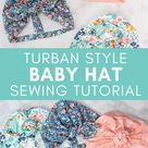 Knotted Turban Style Baby Hat - Sweet Red Poppy