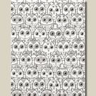 Coloring Page Owl Eyes Scrapbook Paper