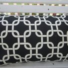 CLEARANCE Black Outdoor Pillow Cover Geometric Patio Porch Decorative Accent Throw Pillow Modern Abstract CLEARANCE SALE Pillow