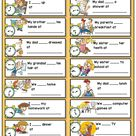 Daily routines + telling the time worksheet
