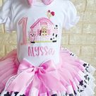 Giddy Up Horsie Birthday Tutu Outfit Pink and brown Includes   Etsy