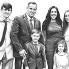 Photo To Sketch, Pencil Sketch From Photo, Portrait Drawing, Custom Pencil Portrait, Drawing From Photo, Custom Drawing, Family Portrait