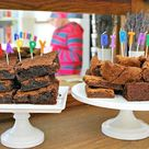 Brownie Birthday Cakes