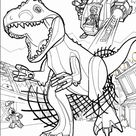 Lego Coloring Pages Jurassic World Sketch Coloring Page