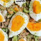 Bohnensalat mit Thunfisch und Ei