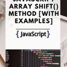 JAVASCRIPT ARRAY SHIFT() METHOD [WITH EXAMPLES]
