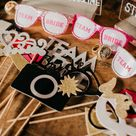 Wedding Day Photo Booth Props  Wedding Day Photography  Caitlin Steva Photography