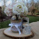 Burlap Wedding Centerpieces