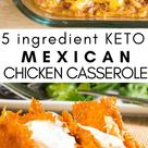 Mexican Chicken Casserole Low Carb Keto THM S 5 Ingredient