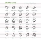 Weather Icons - Outline
