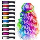 Ad 10 Colors Hair Chalk For Girls Kids Temporary Bright Free Shippin