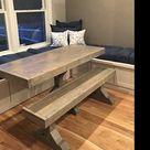 Farmhouse Table, Breadboard Table, Farm Table, Dining Room Table, Dining Table, Trestle Table, Farm Table, Rustic, Dine Table