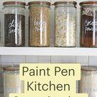 Paint Pen Kitchen Organization