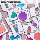Formen-Zuordnungspuzzles zum Ausdrucken - Spielen Basteln Lernen
