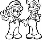 Super Mario Brothers free printable coloring page