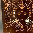 Diwali Lantern Diya  Deity Ganesha Artwork  Diwali Gifts  | Etsy