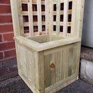 The Stroud  Handmade Rustic Tanalised Timber Corner Trellis   Etsy