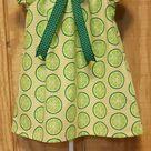 Monogrammed Peasant Dress for Baby/Toddler/Girl, Boutique Style Dress, Spring Dress, Easter Dress, Summer Dress, Lime Dress