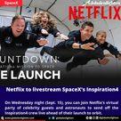 Netflix to livestream SpaceX's Inspiration4