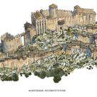 Château de Montségur - Ruined Medieval Cathar Castle in France