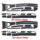 19Pcs 3D/5D Auto Car Interior Central Control Glossy Carbon Fiber Sticker Wrap Trim Decal For BMW 3 Series 2005 2013 E90 E92 E93 M sports for Left Dr