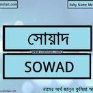 সোয়াদ নামের অর্থ কি    Sowad name meaning in Bengali   COMILLAIT