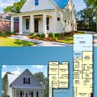 Plan 51715HZ: Narrow 4 Bed Cottage with Metal Roof