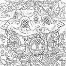 Tree Trunk Home Coloring Page // Printable Coloring Page // Digital Download Coloring