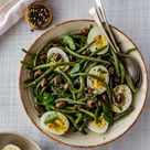 Recipes from my pantry. French bean salad with hard boiled eggs and olives - Juls' Kitchen